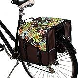 BikyBag Classic CS - Alforjas dobles para bicicleta (flores)