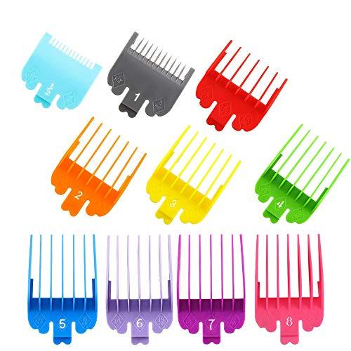 10 piezas coloridas cortadoras de pelo de limite Peine guía de corte, peine de repuesto para cortadoras Wahl y peine de recortadora