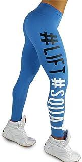 comprar comparacion Kneris Mujer Pantalones Largos Impresión de Letras Leggings Running Yoga Mujeres Mallas Deportivas Fitness Gym Pantalon El...