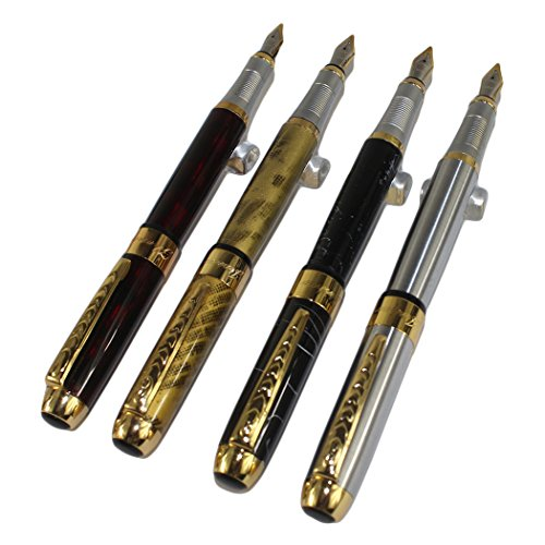 4 PCS in Set Gullor 250 Fountain Pen Cartridge Pens in 4 Colors with Pen Pouch