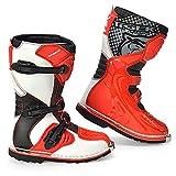 AJL Zapatos de la Motocicleta blindado Largo Tobillo protección contra choques -...