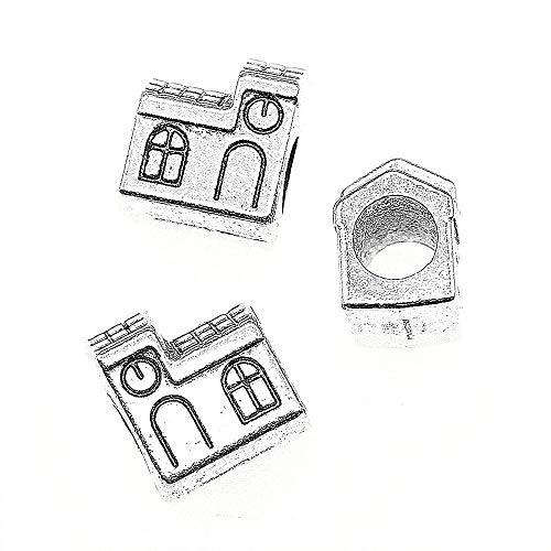 NEWME 12 Piezas Casa Europea Granos Granos Joyas Componentes Componentes Regalos Hechos a Mano Artesanías