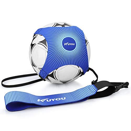Fußball Kick Trainer Solo, Fußball/Volleyball/Rugby Kick Throw Trainer Solo Praxis Training Aid Control Fähigkeiten Verstellbar für Anfänger Kick Off Trainer und Kinder