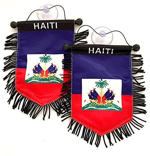 PRK 14 Haiti-Flaggen Haiti für Autos, Heimwerker, Stickerei auf Glas, Qualität und Wert, Haiti-Flaggen Bondye Bon (1)