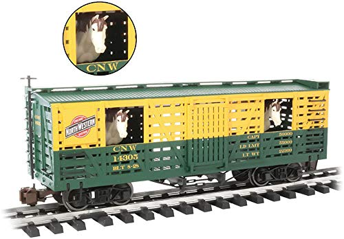 "Animated Stock Car C&Nw W/Horses - Large ""G"" Scale"