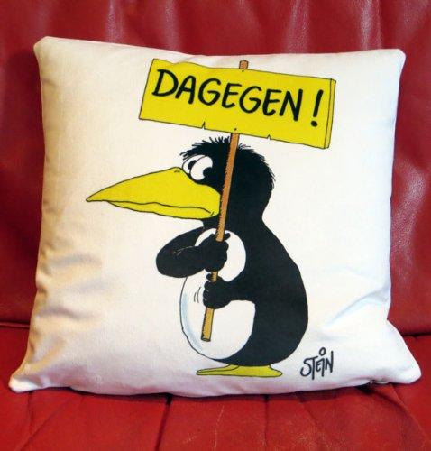 Kissen Uli Stein DAGEGEN
