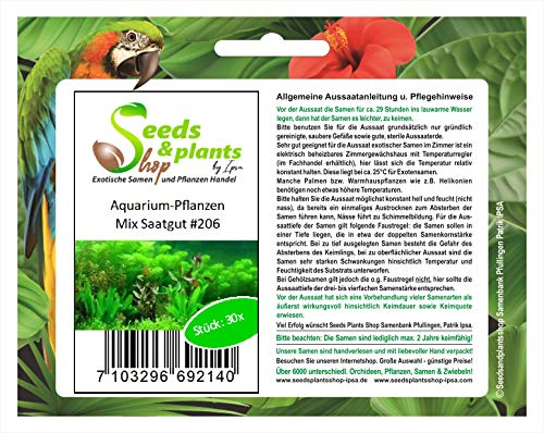 Stk - 30x Aquarium Mix Pflanzen - Samen #206 - Seeds Plants Shop Samenbank Pfullingen Patrik Ipsa