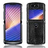 SPAK Motorola Razr 5G 2020 Hülle,Neuer Qualitäts Krokodilmuster Schutzhülle Harter Rückseitiger Abdeckungs Handyhülle für Motorola Razr 5G 2020 (Schwarz)