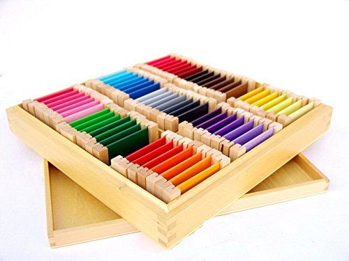 Materiale Montessori Spolette dei Colori Box 3