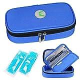 YOUSHARES insulin Cooler Travel case-médication diabétique isolé sac de refroidissement portable pour stylo à insuline et fournitures pour diabétiques avec 2 glacière Ice Pack