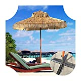 Aly Parasol Paille De Plage Jardin Tropicale Parasol D'extérieur Protection UV Stable Et Durable Style Hawaïen 180 Cm