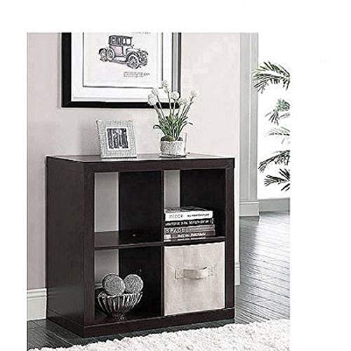 Better Homes & Gardens Square 4-Cube Bookcase (Espresso)
