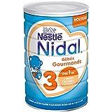 Nestlé Nidal 3 Bébés Gourmands - Lait de croissance en poudre de 1 à 3 ans - Boîte de 800g - Pack de 6