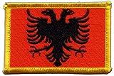 Aufnäher Patch Flagge Albanien - 8 x 6 cm