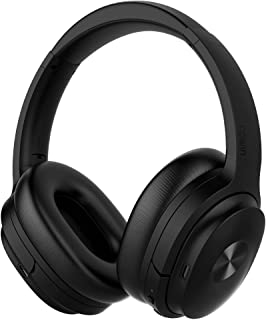 COWIN SE7 Active Noise Cancelling Headphones Bluetooth Headphones Wireless Headphones Over Ear with Microphone/Aptx, Comfortable Protein Earpads, 50 Hours Playtime for Travel/Work, Black