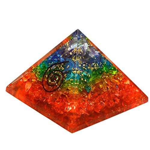 Cristales de sanación India Natural Gemstone orgón pirámide Reiki energía cargada con Free Ebook sobre cristales curación