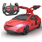 AIOJY 2.4G eléctrico Drift Racing Tesla Recargable RC Remoto de Coches de Regalos de Control de la Puerta Doble con la luz del Coche de Deportes de Mejor Navidad Año Nuevo RC vehículo for niños