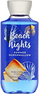 Bath & Body Works Beach Nights Summer Marshmallow Shower Gel, 10 Ounce