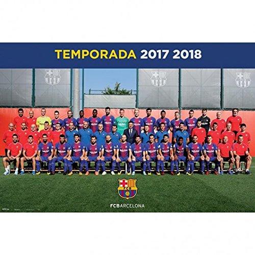 Grupo Erik Editores GPE5217 - Poster 2017/2018 con diseño FC Barcelona Plantilla, 61 x 91.5 cm