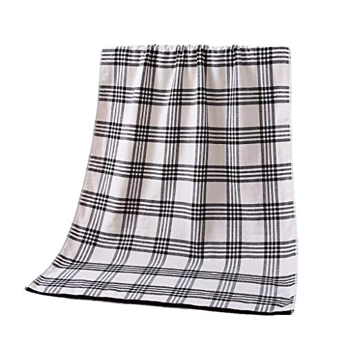 ZRJ Toallas de baño para el hogar, toallas de playa lujosamente suaves, de algodón puro, toallas de celosía, súper absorbentes, para baño, viajes, sauna, preferencial (color: gris)