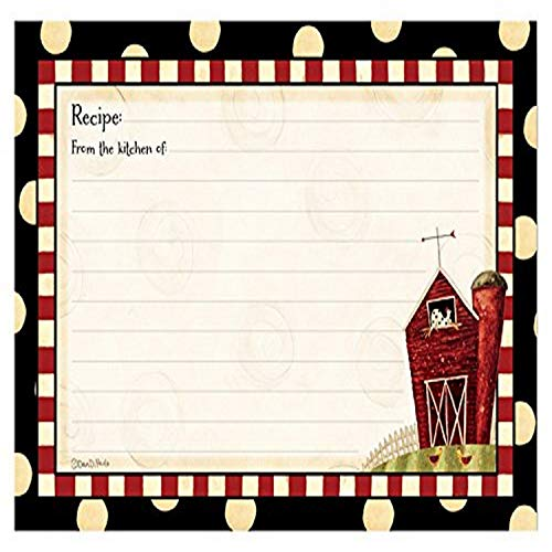 Brownlow Gifts 4' x 6' Lined Recipe Cards, Fresh is Good Gifts, 36-Count