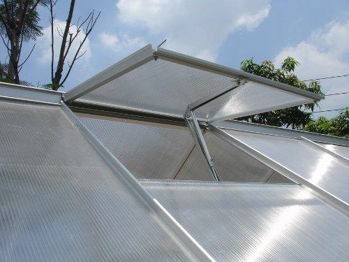 Alaskaprint Automatischer Fensteröffner Fensterheber für Gewächshaus Gartenhäuser öffner Temperaturgesteuert Hubkraft 7 kg, Hubhöhe 40 cm 1X Ersatzzylinder fensteröffner
