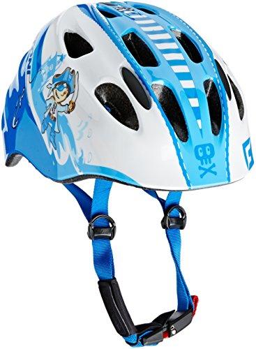 Cratoni Jungen Fahrradhelm Akino, Pirate Blue-White Glossy, S