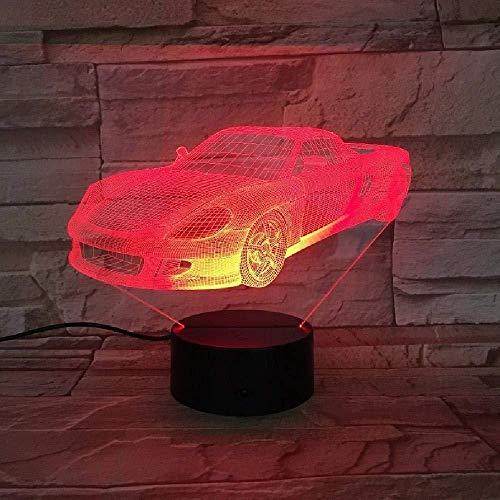 Lámpara De Modelado De Coches Deportivos De Carreras Visuales De 7 Colores, Luz De Noche Led 3D, Interruptor Táctil De Regalo Para Niños, Lámpara De Mesa Usb, Iluminación Para Dormir