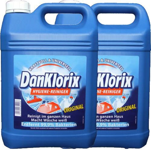 Dan Klorix Hygienereiniger  (2x 5 Liter Kanister, blau)