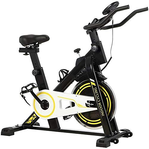 GUOE-YKGM Bicicleta de Ejercicios Ciclismo Indoor Bicicleta Estacionaria, Hogar Equipo de La Aptitud For El Entrenamiento de Cardio del Gimnasio Principal con Tablet Holder Y Monitor LCD (Negro)
