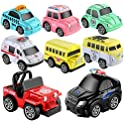 8-Pack Geyiie Pull Back Car Toy Play Set