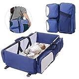 FOONEE - Cama de viaje para bebé, cuna de viaje 3 en 1, cambiador de cuna de...
