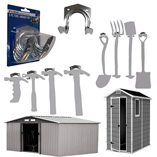 5Pc,Garage Hooks,Garden Brackets,Garden Tool Rack,Tool Hooks,Hooks,Metal Hooks For Hanging,Shed Accessories,Storage Hooks,Heavy Duty Hooks