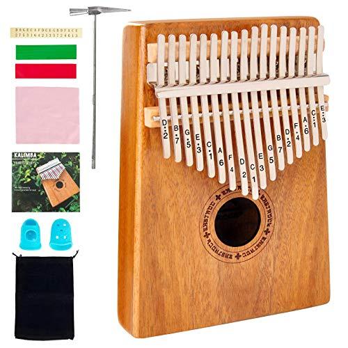 EASTROCK Kalimba 17 teclas Piano de pulgar Mbira portátil Piano de dedo para niños principiantes Kalimba profesional