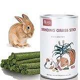 MYSY Juguetes masticables Naturales Palitos de heno, Snacks molares para cobayas, Conejos, Chinchillas, hámsters, 28 palitos (Sabor a Zanahoria)