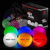 Glow Golf Balls with Mesh Bag | 6 pcs Light Up Golf Balls | LED Light Glow Balls for Golfing |...