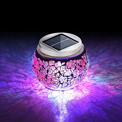 Color Changing Mosaic Solar Light Solar Powered Ball Garden Lights Solar Table Lights Waterproof product image