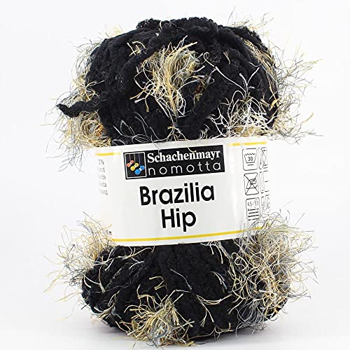 Hilos Schachenmayr Brazilia Ovillo de Color Negro Cod.1454