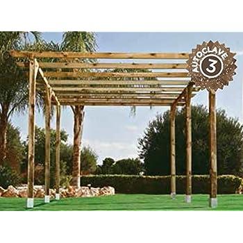 Jardín Verde - Pérgola classica de madera