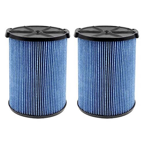 VF5000 3-Layer High-efficiency Fine Dust Replacement Filter for Wet Dry Vac Compatible with WD1450 WD0970 WD1270 WD09700 WD06700 WD1680 WD1851 RV2400A(2 pack)
