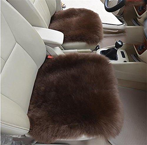 DIELIAN Echte schapenvacht lange wol stoel sofa kussen auto stoel cover (1-zit)