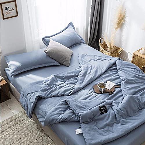 Manta de Microfibra Color sólido, Extra Suave Mantas para Sofás, Multifuncional para sofá, Cama, Viajes, Adultos, niños -Azul eléctrico_150x200cm