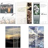 20 Stück Trauerkarten Beileidskarten Kondolenzkarten Set mit Umschlag, Klappkarten 17 x 12 cm