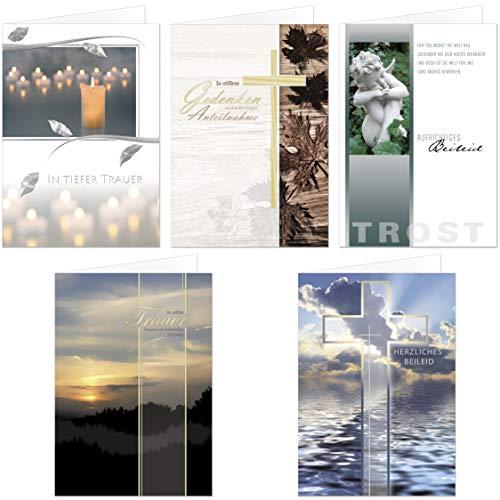 50 Trauerkarten Trauerkarte Trauer Beileidskarten Kondolenzkarten 811800 HI