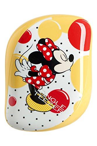 Tangle Teezer, spazzola districante compatta per capelli Disney, Minnie Mouse, giallo sole