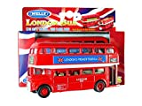 London Double Decker Modelo de Red Bus (Pull & Go Back Acción) Hecho de Die Cast M. ..