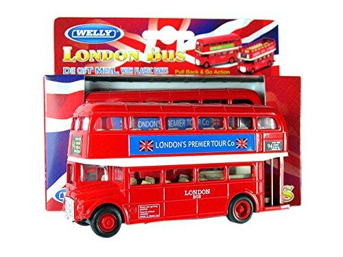 London roten Doppeldecker-Bus-Modell (Pull Back & Go Aktion) Hergestellt aus Metalldruckguss und Kunststoffteile