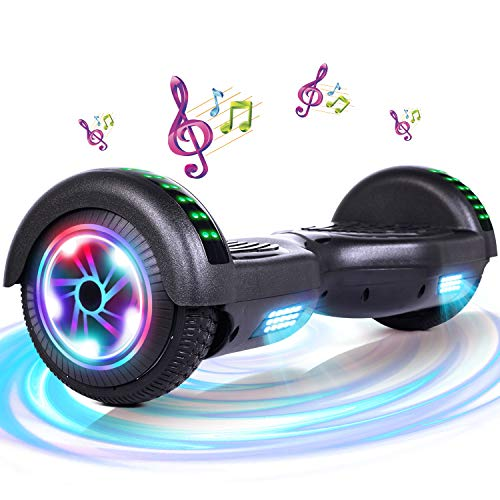 FLYING-ANT Hoverboard with Bluetooth and Light, 6.5 Inch Hoverboard for Kids(A06Blue)