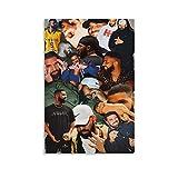 FANSH Drake Collage Poster, dekoratives Gemälde, Leinwand,