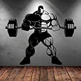Bodybuilding Gym Fitness Trainer Sports Muscle Wall Decal Vinilo...